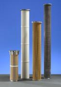 Cartouche filtration des gaz chauds - Utilisées en milieux acides, ou en présence de solvants.