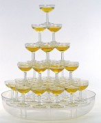 Cascade à champagne 48 coupes - Hauteur : 10 cm - poids : 3.5 kg - 48 coupes