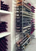 Casier à bouteilles métallique chromé - De 100 à 216 bouteilles.