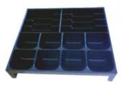 Casier à monnaie pour tiroir caisse - Casier : 8 billets - 8 pièces