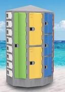 Casier de plage rond - Structure HDPE garantie 20 ans  - Thermoplastique très robuste