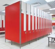 Casier en bois stratifié ou mélamine pour vestiaires - Mobilier stratifié haute pression compact salle de bain