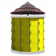 Casier plage - Capacité : 48 casiers