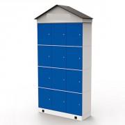 Casier plage inox - Capacité : 12 casiers
