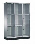 Casier vestiaire porte verre acrylique - Largeur : 820 mm - 1220 mm