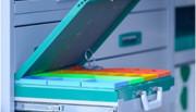Casiers plastiques pour véhicule utilitaire - 5 dimensions : 54×54, 54×108, 108×108, 108x 162, 108x 216 mm