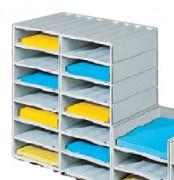 Casiers pour courrier monocase - Dimension d'une case (H x L x P) cm : 8,7 x 26,8 x 32,3