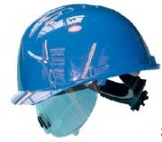 Casque de chantier coque en polyéthylène haute densité - Visière en polycarbonate intégrée