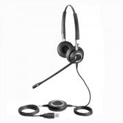 Casque téléphonique Bluetooth pour centres d'appels - Casque téléphonique 2 écouteurs - Connexion USB et Bluetooth
