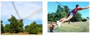 Catapulte humaine - Human slingshot - Force de catapultage entre 4,2 et 4,6 G force.
