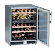 Cave à vin vitré - Capacité utile totale (L) : 126