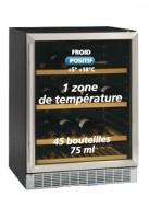 Cave à vins professionnelle porte vitrée 155 litres - 155 litres - De 5° à 18°C - 4 clayettes