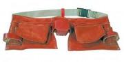 Ceinture porte outils - En croute de cuir - 11 compartiments