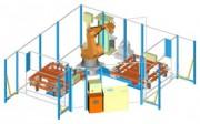 Cellule robotisée de collage - Soudage avec 2 tables tournantes