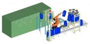 Cellule robotisée de finition de fûts en plastique - Finition de fûts en plastique