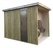 Cellule sanitaire 1 cabine - Cellule cabine PMR et à usage pour tous