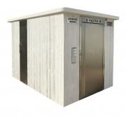 Cellule sanitaire 1 cabine PMR - 1 cabine sanitaire PMR et à usage pour tous