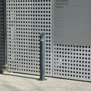 Cendrier acier sur pied - Corps du cendrier en tube Ø 101,6 mm - épaisseur 3,6 mm