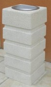 Cendrier béton - Poids : 125 kg - Hauteur : 75 cm