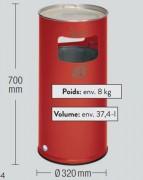 Cendrier Corbeille de ville - Fabrication en tôle d'acier gal