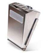 Cendrier d'extérieur en acier inoxydable - Dimensions (L x l x H) mm : 86 x 78.2 x 143