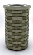 Cendrier d'extérieur pin - Dimensions (D x H) cm : 40 x 71
