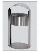 Cendrier en acier inox - Corps en acier INOX AISI 304.