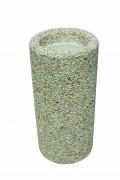 Cendrier en béton H 68 cm - Diamètres ext : 32 cm, Diamètre int : 22 cm en tête