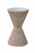 Cendrier en béton sablier - Diamètres extérieurs : 40 cm, Diamètre intérieur : 30 cm,