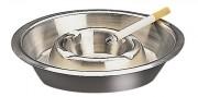 Cendrier en inox empilable 14 cm - Diamètre: 14 cm - Poids unitaire: 0,08 kg
