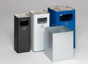Cendrier et poubelle en acier - Fabrication en tôle d'acier galvanisé.
