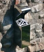 Cendrier extérieur en inox - Dimension (mm) : 283 x 91 x 65