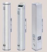 Cendrier mural aluminium 480 mm ht - Hauteur : 480 mm - Contenance : 2 - 2,5 Litres