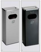Cendrier poubelle 32 litres - Fabrication en tôle d'acier galvanisé.