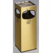 Cendrier poubelle 4 ouvertures - Fabriqué en tôle de laiton