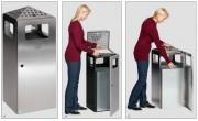Cendrier poubelle 80 L. - Capacité env. 80 L  .
