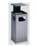 Cendrier poubelle avec 3 ouvertures - Capacité (L) : 8