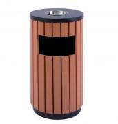 Cendrier poubelle collectif extérieur - Contenance : 35 ou 50 L - Finition : effet bois