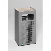 Cendrier poubelle en alu - Capacité (L): 53.