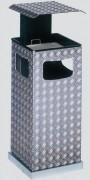 Cendrier poubelle en aluminium 38 Litres - Capacité (L) : 38