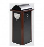 Cendrier poubelle en tôle d'acier - Dimensions (H x L x P) : 1300 x 600 x 600 mm