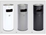 Cendrier poubelle extérieur - Fabrication en tôle d'acier galvanisé.