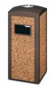 Cendrier poubelle extérieur en gravier - Capacité : 50 litres - Dimensions (L x l x H) cm :  40 x 40 x 89