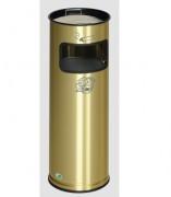Cendrier poubelle laiton - Fabriqué en tôle de laiton