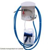 Centrale de désinfection et de nettoyage - Centrale avec tuyau de 15 m- Livrée avec pistolet antichoc- Dim ( L x l x H ) : 270 x 75 x 370 mm- Débit : 13l/min en rinçage, 8l/min en lavage
