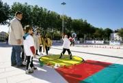 Cercle de lancer pour enfants - Matière : Mousse, PVC