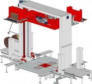 Cercleuse palette automatique à presse - Capacité de production : 120 palettes par heure
