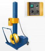 Cercleuse semi-automatique de palettes à batteries - Cadence : 10 à 30 palettes/ h - Durée de la batterie : 600 cerclages