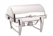 Chafing dish rectangulaire à couvercle rabattable - Dimensions : 720 x 540 x 400 mm
