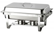 Chafing dish rectangulaire pliable - Dimensions : 585 x 375 x 145 mm